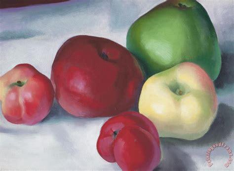 apple family georgia o keeffe apple family 3 painting apple family 3