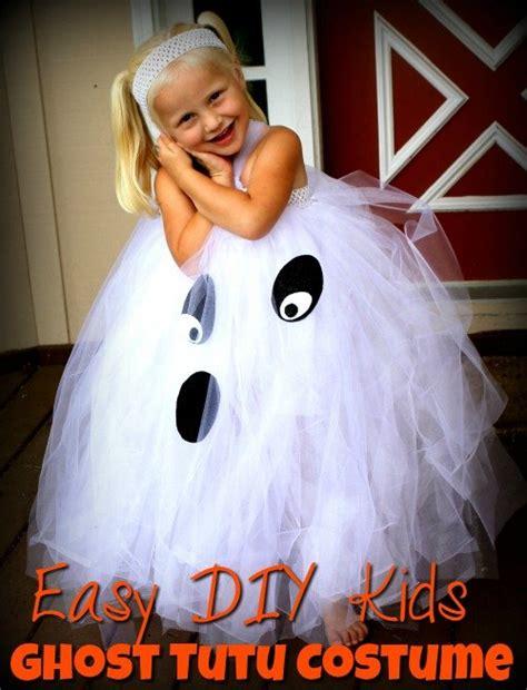 kids ghost costume easy diy kids ghost tutu costume