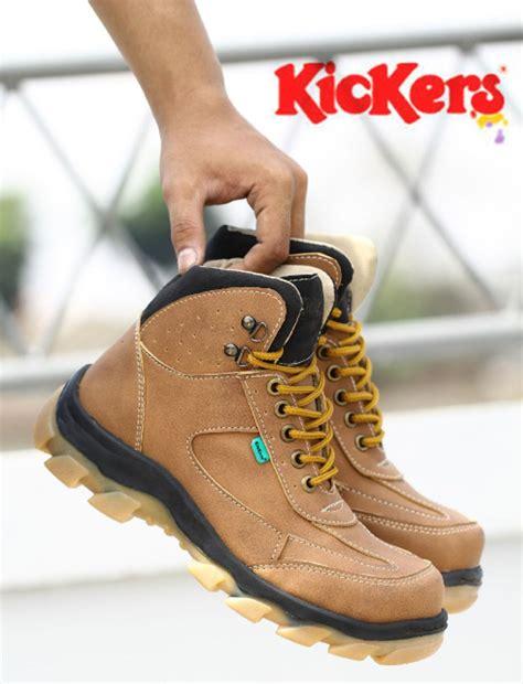 Kickers Boots Murah Brown Safety Boot Pria jual sepatu boots pria kickers new safety di lapak toko