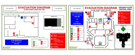 fire and evacuation diagram workplace emergency management evacuation diagrams fire