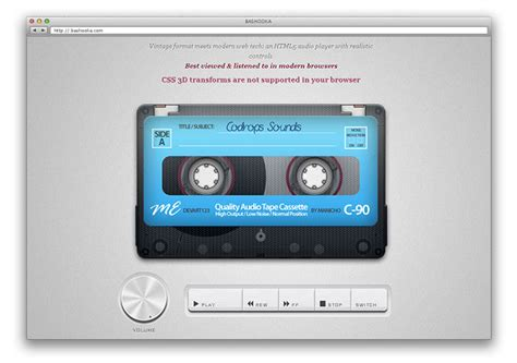 design html audio player 30 great html5 video audio players web graphic