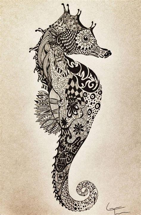 doodle tattoos doodle zeepaard idea