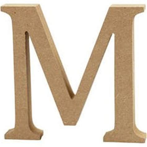Wooden Letters Home Decor mdf wooden letter m 13 cm hobbycraft