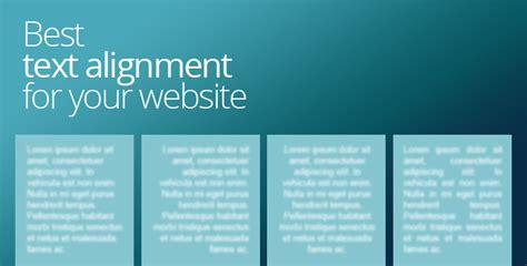 best text layout web design best text alignment for your website web design news blog