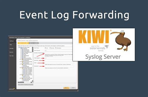 windows forward configure event log forwarding windows to a syslog