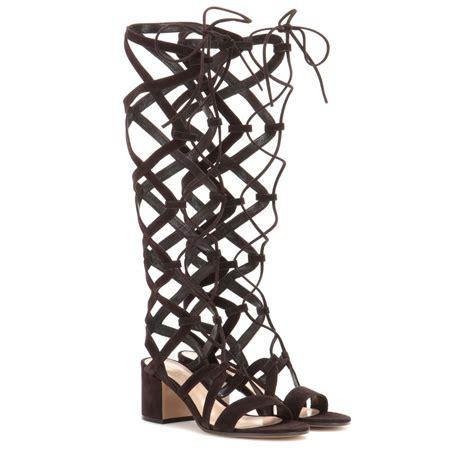 Sandal Preloved Gladiator 1 lyst gianvito suede gladiator sandals in black