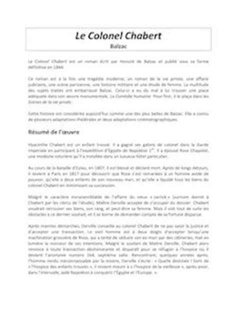 Le Colonel Chabert - Honoré (de) Balzac - Fiches de lecture