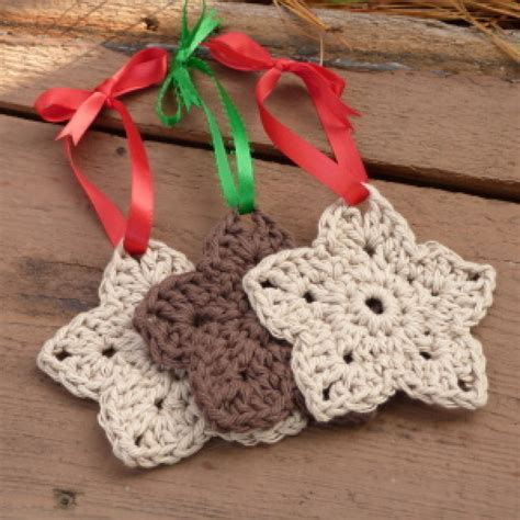 rustic star ornament free crochet pattern