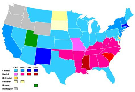 u s 13 insightful maps of u s religion churchpop