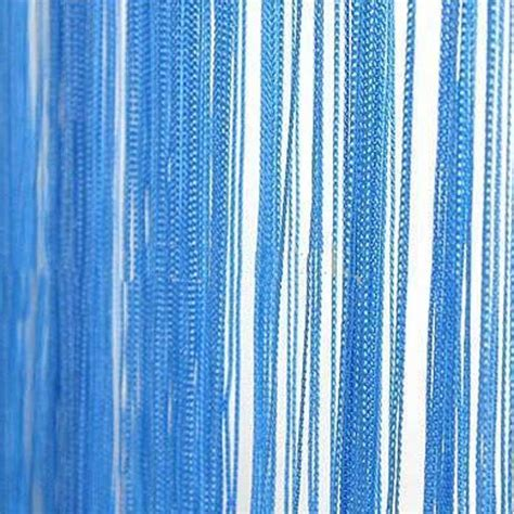 drawstring drapes blue string curtain