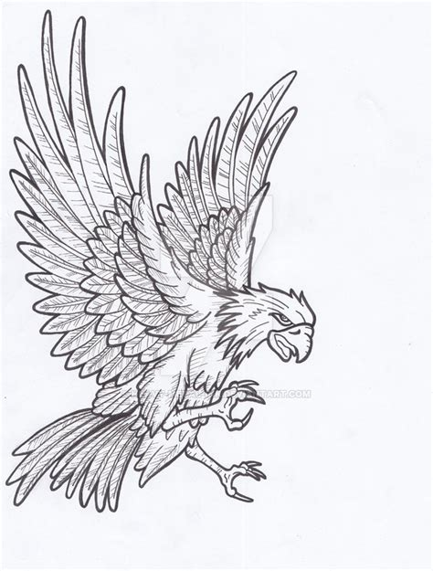 Eagle Tattoo Line Art | eagle lines by heavy metal ink on deviantart