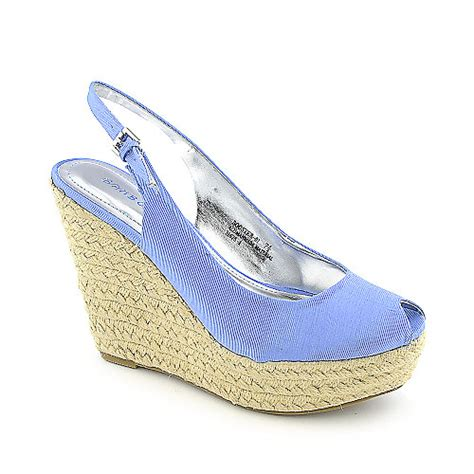 bamboo booster 01 s blue casual wedge shoe shiekh