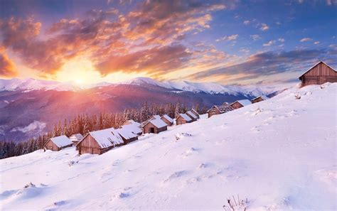 amazing winter sunset wallpapers amazing winter sunset