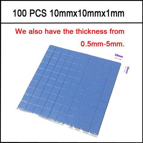 30x30x05mm Thermal Pad Cooling Silicone For Cpu Heatsink 220 10mm 10mm 1mm 100 pcs thermal pad gpu cpu heatsink cooling conductive silicone pad high quality