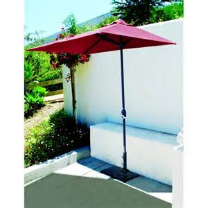 Patio Umbrella Base Parts Galtech 3 5x7 Half Wall Commercial Patio Umbrella