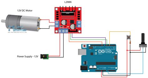arduino and l298n circuit diagram dc motor