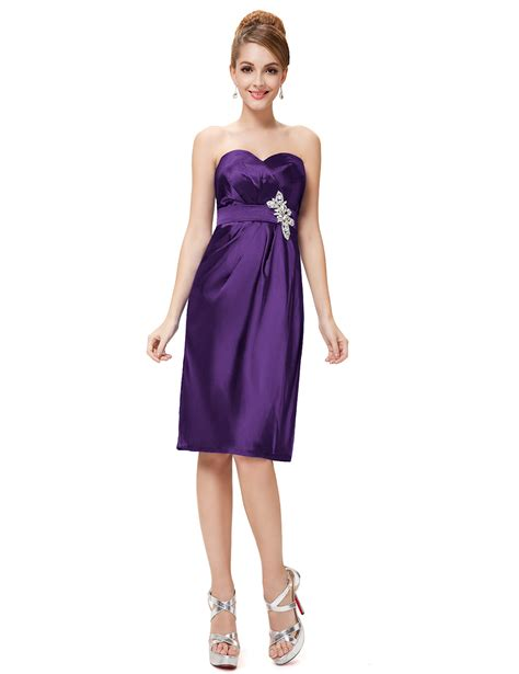Satin Ruffles Dress purple strapless ruffles diamante padded satin cocktail dress pretty wholesale