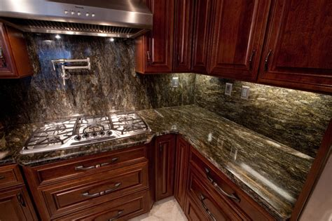 Modern Luxury Kitchen With Granite Countertop Saturnia Granite Modern Kitchen Dc Metro By Granite