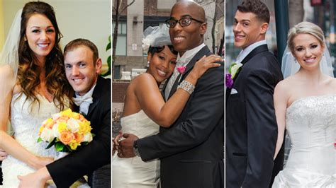 married at first sight couples enter year two of married at first sight season 1 finale 2 couples stay