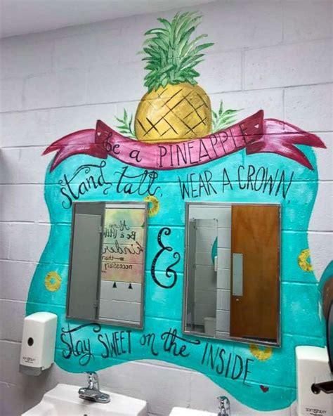 girls bathroom stories girls bathroom stories woman paints motivational messages