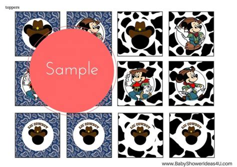 free printable cowboy party decorations free lil cowboy mickey mouse printable birthday party