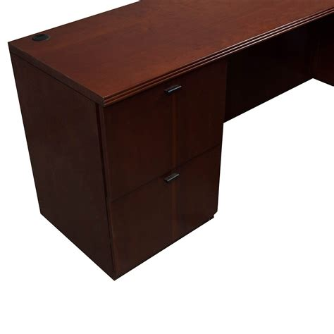 Used U Shaped Desk Kimball Used Veneer Left Return U Shape Desk Mahogany National Office Interiors And Liquidators