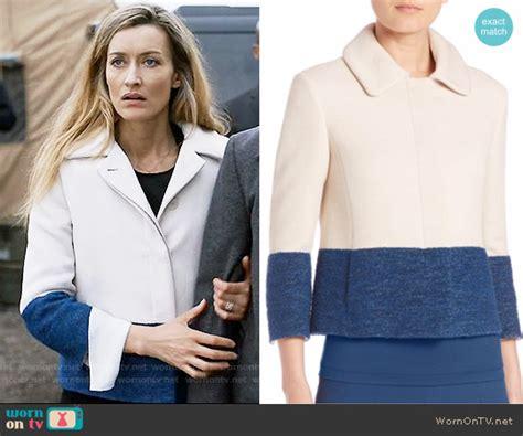 designated survivor wardrobe wornontv alex s blue and white colorblock jacket on