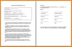 5 simple wedding photography contract template land