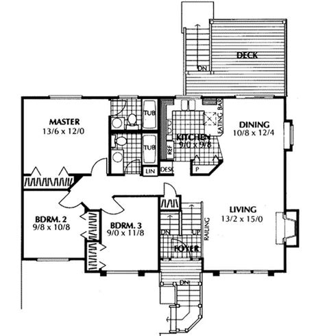 multi level home plans multi level home plan 3 bedrms 3 5 baths 1143 sq ft