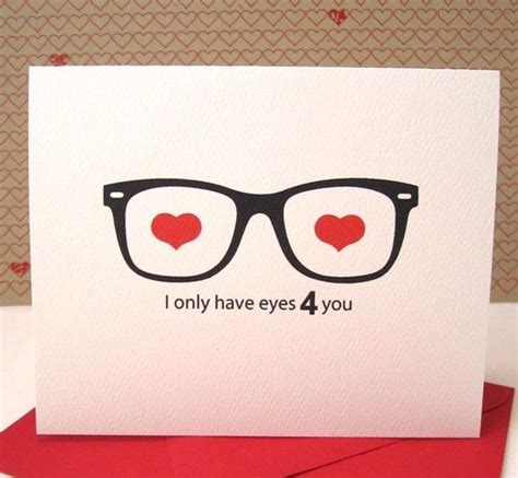 valentines gifts for geeky boyfriend card anniversary card glasses card