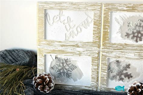 winter home decor rustic frosted frames winter home decor diy project tutorial