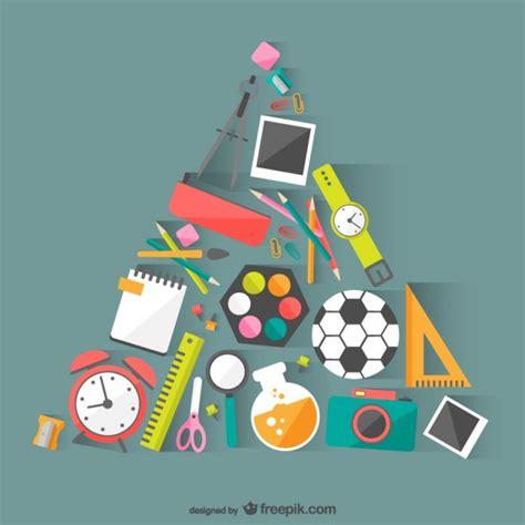 imagenes recursos educativos materiales escolares vector descargar vectores gratis