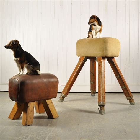 Stools In Horses by Vintage Leather Pommel Stool Original House