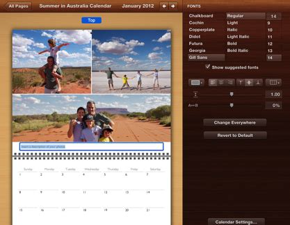 iphoto calendar layout help iphoto 9 5 format calendar text