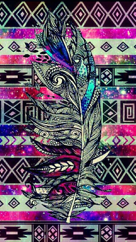galaxy tribal pattern background tumblr tribal feather galaxy wallpaper i created for the app