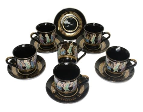 Ethnic Styles Kyushu Tea Set by Turkish Coffee Cups Traditional Coffee Serving Utensils