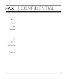 10 professional fax cover sheet templates free sle
