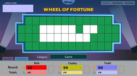 wheel of fortune blank template pictures to pin on