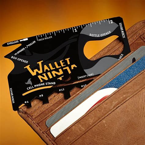 Solid Wallet 12 In 1 Multi Purpose Credit Card Sized Pocket Tool wallet 16 in 1 multi tool 187 gadget flow