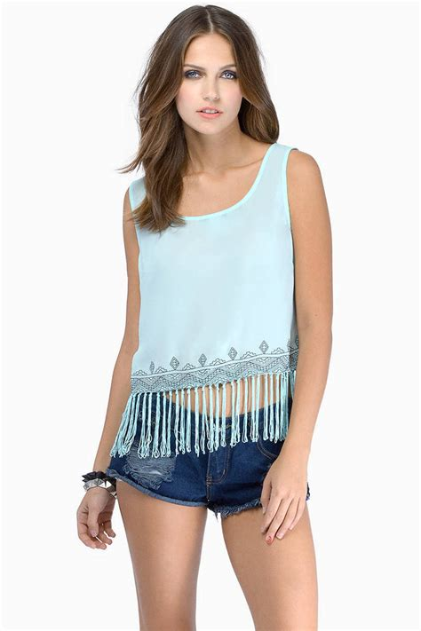 Sale Fringe Top Import white tank top white top sleeveless top 6 00