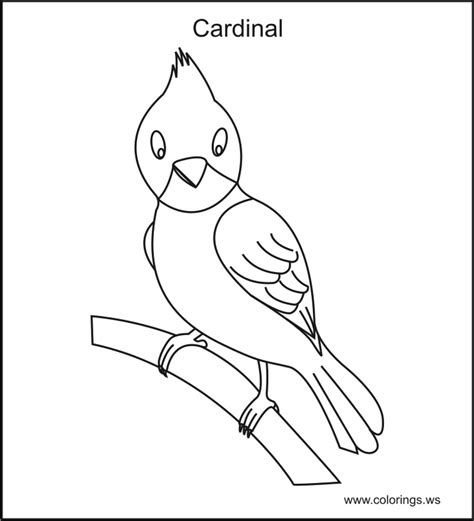 cardinal bird coloring pages az coloring pages