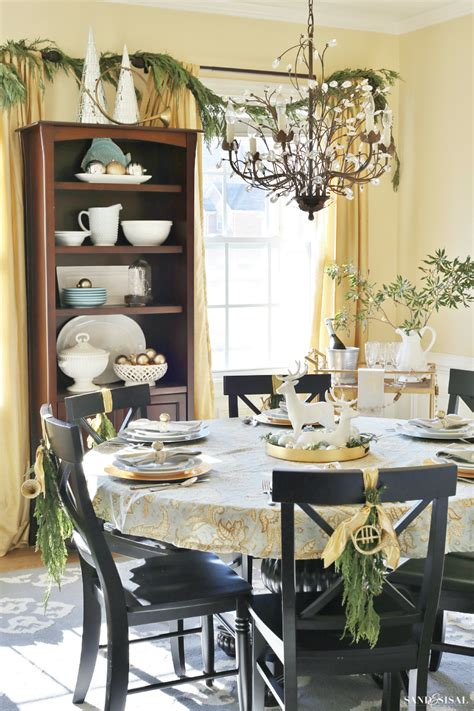 Silver And Gold Dining Room dining room tour sand and sisal