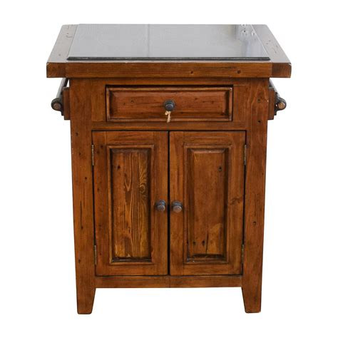 Wooden Kitchen Island Table 65 Wood Kitchen Island With Black Marble Top Tables