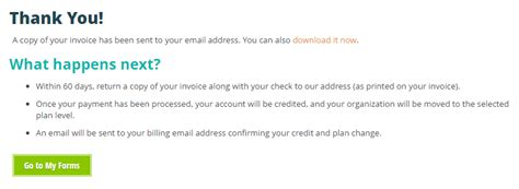 Invoice Thank You Letter Pay By Invoice Cognito Forms Support