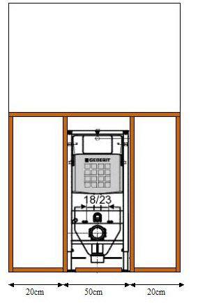 Inbouwtoilet Frame by Frame Bouwen Voor Inbouwreservoir
