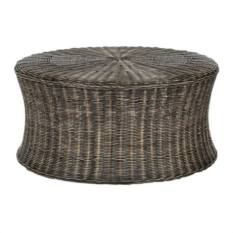 rattan ottoman safavieh ruxton wicker and wooden ottoman in dark brown