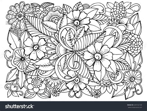 doodle pattern colouring books flower pattern coloring pages
