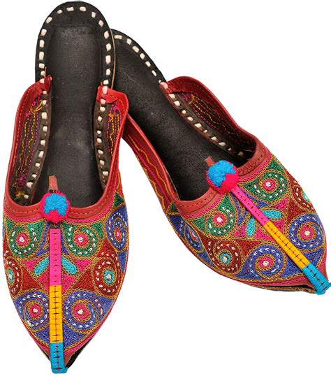 auburn house shoes auburn red slippers with embroidered spirals in multi color thread