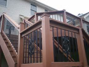 Decorative Deck Spindles St Louis Deck Design Step It Up With Deck Railing And
