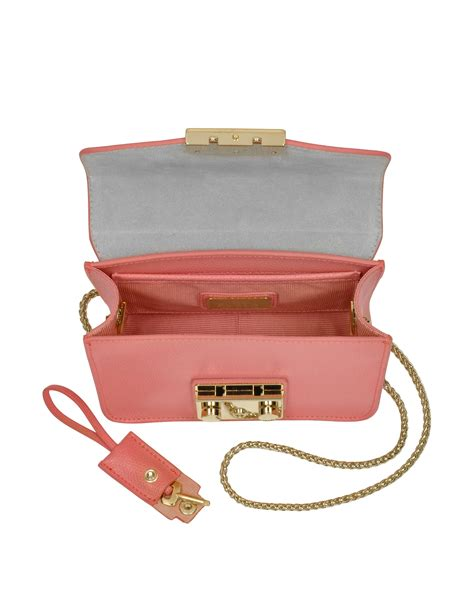 Furla Metropolis Slingbags 2321 furla metropolis coral leather shoulder bag in pink lyst